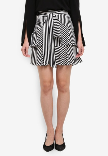 Bardot black and white Cross The Line Skirt BA332AA0ST8RMY_1