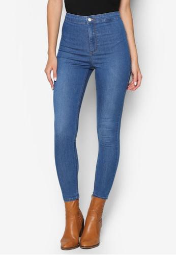 94682d3a0884 Shop TOPSHOP Moto Mid Blue Joni Jeans Online on ZALORA Philippines