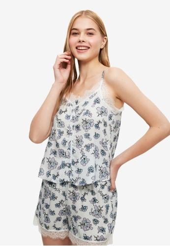 Trendyol white and multi Viscose Pyjama Set D14CEAAAF21B96GS_1