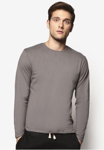 簡esprit地址約圓領長袖衫, 服飾, T恤
