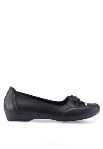 Louis Cuppers 黑色 蝴蝶結樂福鞋 90C86SH25F1A60GS_1