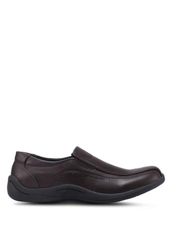 Bata brown Slide-On Dress Shoes D9045SHB080309GS_1
