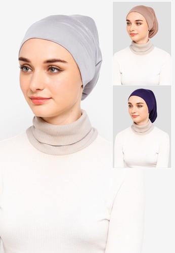 Najjah blue and grey and brown Inner Headband Pack 7F08AAA151B5AEGS_1