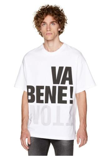 United Colors of Benetton white Printed T-shirt 74CBEAAB36ACB0GS_1