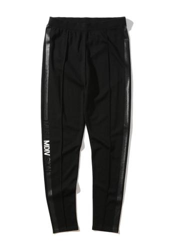 MUSIUM DIV black Taped logo leggings 94188AAA884498GS_1
