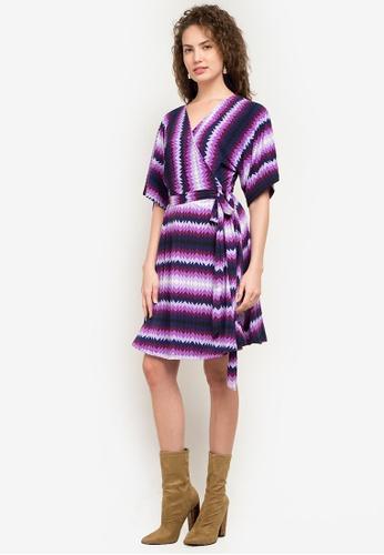 Chloe Edit multi Danica Wrap Dress Continuous Sleeve CH672AA0K9TRPH_1