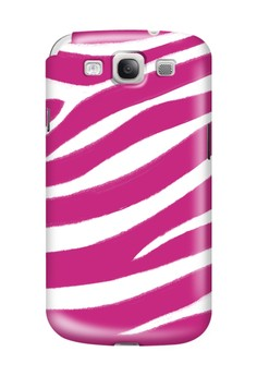 Pink Zebra Print Glossy Hard Case for Samsung Galaxy S3