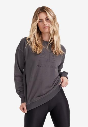 P.E Nation grey Heads Up Sweatshirt A2EAEAA95CC057GS_1