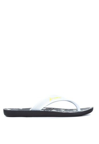 Rider black and white and yellow Strike Plus AD Flip Flops RI584SH73OZQPH_1