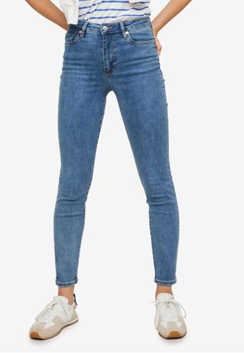 Mango 藍色 High-Rise Skinny Jeans 1C9A1AA6A00E90GS_1