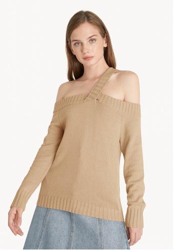 Pomelo beige Single Strap Sweater - Beige 97D7CAA11B2065GS_1