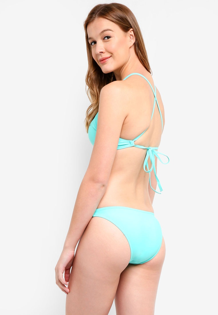 High Malibu Neck Beachwear Green Mint Bikini Set Nusa pHHBfn6xqw