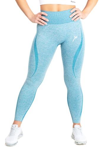 Famme Sportswear blue Famme Sportswear ICY Blue Elevate Vortex Leggings 9B54AAA9C607DFGS_1