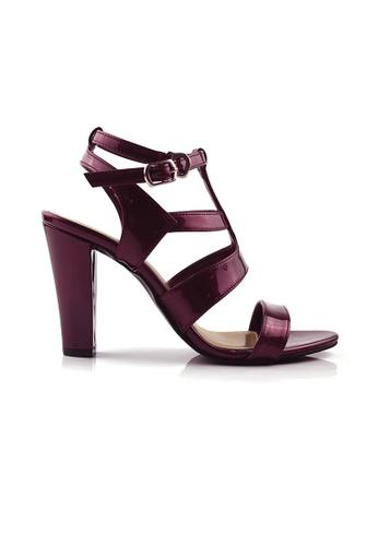 SHINE black Cut Out Cage Heel Sandals SH554SH85TASSG_1