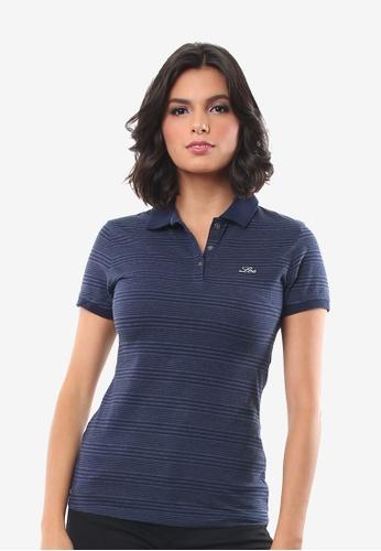Lee blue Ladies Short sleeves Sportshirt 2BC65AA2245975GS_1