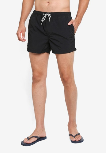 Burton Menswear London black Black Regular Pull On Swim Shorts FE021USAA5C583GS_1
