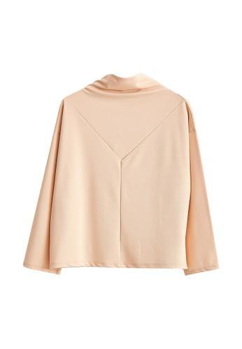 LC Waikiki beige Scuba Fabric Stand Collar T-Shirt 5D6AEAA136FF7DGS_1