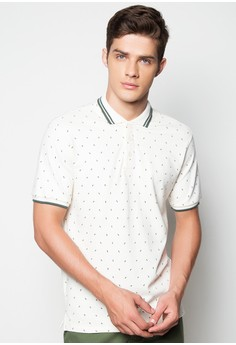 S/S Jagged Shape Print Classics Polo Shirt
