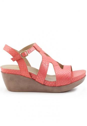 Shu Talk 粉紅色 蛇皮鬆糕涼鞋 SH544SH099T3TW_1