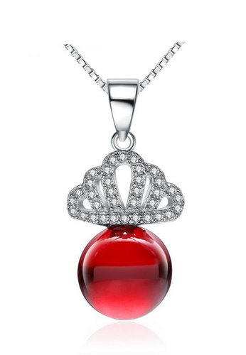 LYCKA red and silver LPP88122 S925 Silver Necklace 80B7EACA44DF2CGS_1