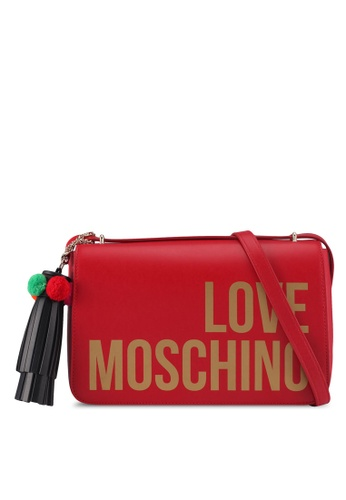 Love Moschino red LOVE MOSCHINO Shoulder Bag LO478AC0SXXTMY_1
