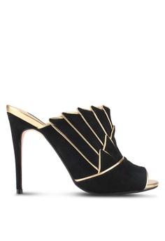 ZALORA black Layered Wing Detail Heels 40C8ASH6C623CEGS_1