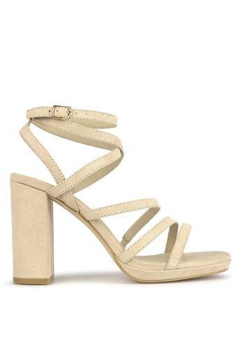 Betts beige Sapphire Platform Sandals 7E28BSHD0E887DGS_1