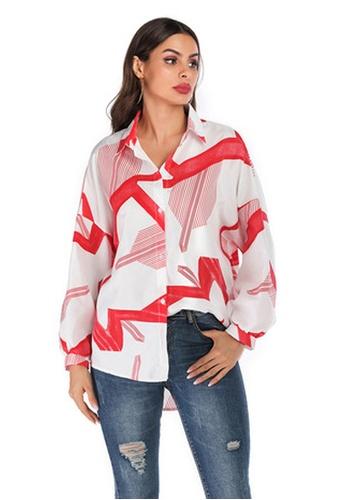 Twenty Eight Shoes white VANSA Printed Long Sleeve Shirts  VCW-Sh6142 138BFAA270A9D5GS_1