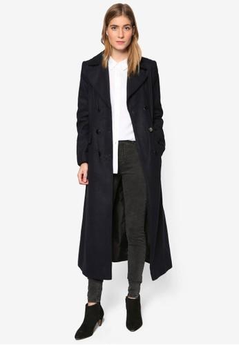 軍式長esprit taiwan版大衣外套, 服飾, 外套
