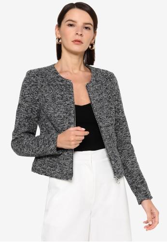 Vero Moda grey Rae Zip Short Blazer 42955AAFEF7C02GS_1