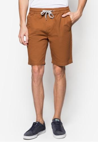 簡約束口棉質短褲, zalora 台灣門市服飾, 短褲