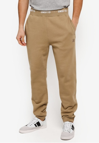 Undefeated beige Embroidered Sweatpant UN888AA0SX4AMY_1