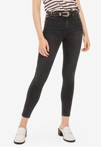 TOPSHOP black MOTO Washed Black Jamie Jeans TO412AA0SLBKMY_1