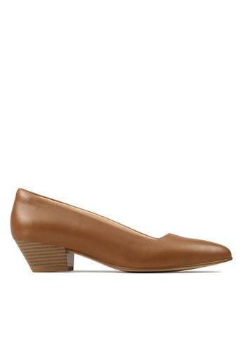 Clarks CLARKS Women's Casual Sense35 Court Tan Leather Shoes B8D37SHB19B011GS_1