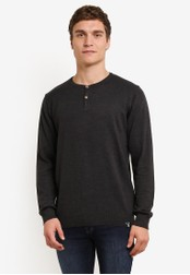 Indicode Jeans black and grey Taylor Grandad Sweatshirt IN815AA0ROLVMY_1