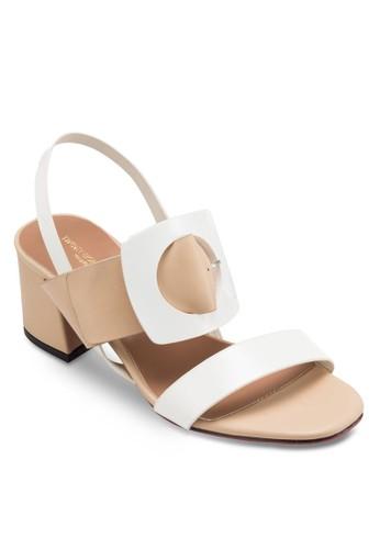 MC 扣環飾粗跟涼鞋, 女鞋, esprit outlet 台灣鞋