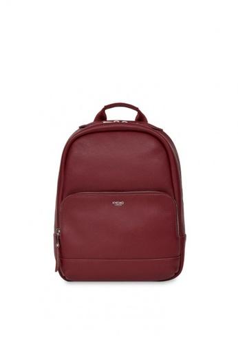 "knomo red Mini Mount 10"" Small Leather Backpack (Burgundy) 4EB2BAC7567E4DGS_1"