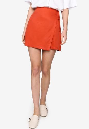Origin by Zalora orange Wrap Skirt made from TENCEL™ EF00BAA4FFA3CEGS_1