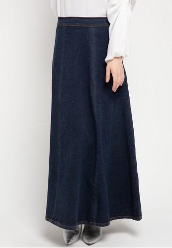 Expand blue Divya Skirt Denim 8FC89AA4B66F7AGS_1