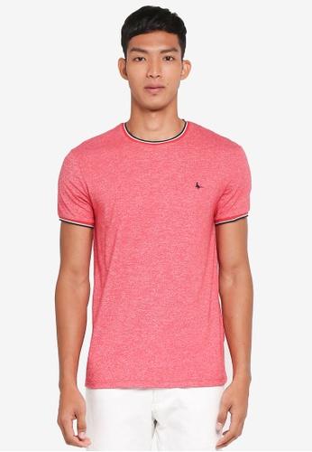 Jack Wills red Baildon Ringer T-Shirt 478EAAA8299B3CGS_1