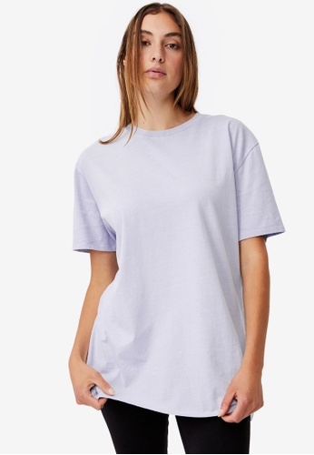 Cotton On blue The Oversized Dad Tee FB70FAAF051273GS_1