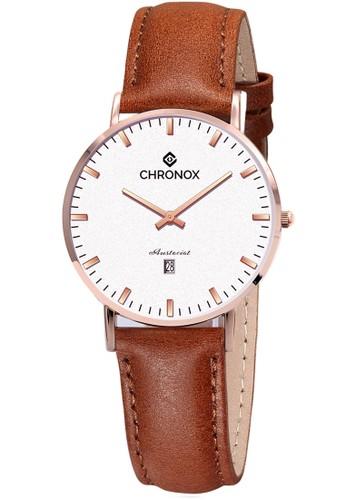 CHRONOX brown CHRONOX CX1007/B3 PRG - Jam Tangan Wanita Casual -Tali Coklat Tua B Rosegold- Genuine Leather Strap E7B77AC27FC93BGS_1