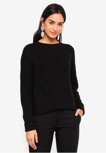 Vero Moda black Abo Long Sleeve Knit Top 957B1AA18BF363GS_1