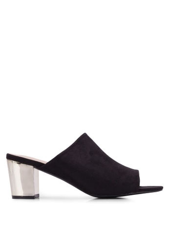 Nose black Casual Chunky Heel Sandals NO327SH0RVM5MY_1