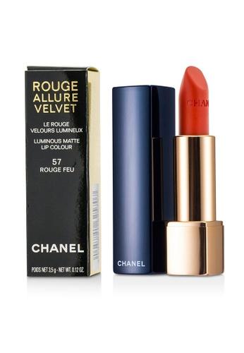 Chanel CHANEL - Rouge Allure Velvet - # 57 Rouge Feu 3.5g/0.12oz 60198BE311970FGS_1