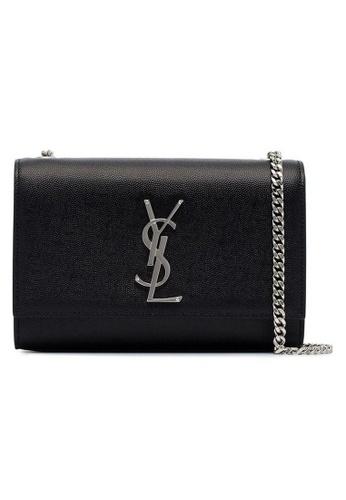 SAINT LAURENT black Yves Saint Laurent Classic Small Kate Crossbody Bag in Black/Silver 460A9AC67A6A4DGS_1