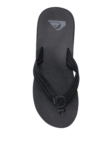 Quiksilver black Carver Suede Sandals 88DD8SH9ACADA2GS_1