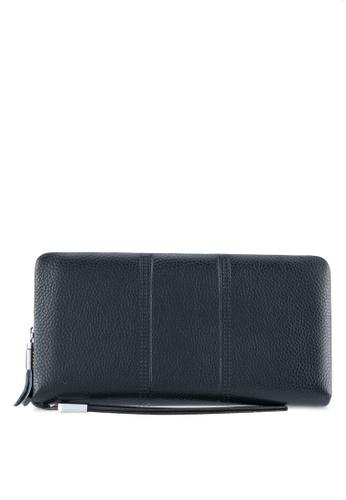 ZALORA black Leather Large Wallet 4E59DZZFD4752CGS_1
