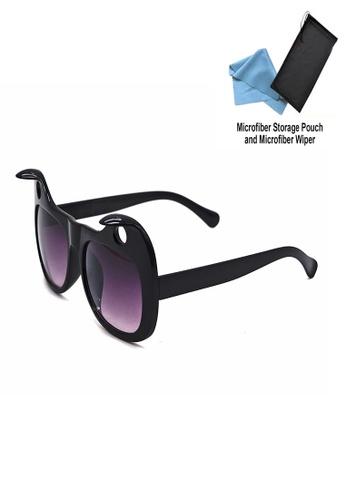 Manmico black Iwear Collection Fashion Eyewear 2014 (Black) with free Microfiber Storage Pouch and Microfiber Wiper MA606GL20QVVPH_1