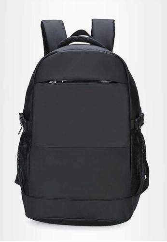 Lara black Men's Nylon Patchwork Backpack - Black 32B20AC8EAEE3EGS_1